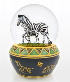 Zebra snowglobe
