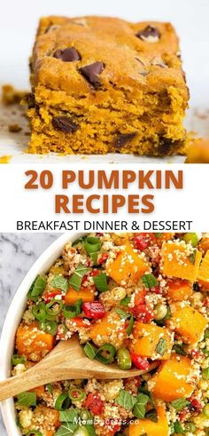 If you're a pumpkin lover just like me you're going to love these easy to make pumpkin recipes-everything from breakfast to dinner and dessert. #pumpkinrecipes Roast Pumpkin Soup, Pumpkin Risotto, Pumpkin Curry, Pumpkin Pasta, Vegan Pumpkin, Healthy Pumpkin, Healthy Breakfast Snacks, Breakfast For Dinner, Dessert For Dinner