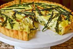 Spring Vegetable & Goat Cheese Tart by Full Fork Ahead