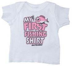 Bass Pro Shops My First Fishing Shirt for Baby Girls - White - 12 Months