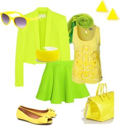 """Bright Spring Daze - Flamboyant Gamine"" by catrenn on Polyvore"