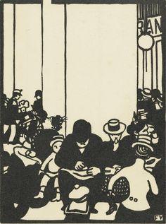 Five O'Clock (Cinq heures) Félix Vallotton (1865 - 1925) woodcut in black on wove paper, 25.3 cm x 16.3 cm Van Gogh Museum, Amsterdam (Vincent van Gogh Foundation)