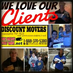 We love our clients   JOIN OUR NATIONWIDE NETWORK OF MOVERS, TRUCK RENTALS, STORAGE FACILITIES, MOVING EQUIPMENT SUPPLIERS, FURNITURE DEALERS, HOME SERVICES, CONDO & APARTMENT COMLEXES & MORE !   -FREE ADVERTISING -FREE PROMTION -FREE LEADS   EMAIL YOUR BUSINESS CARD IMAGE OR LATEST DISCOUNT AND SPECIALS TO  wemoveyouwin@yahoo.com   once your advertisement is live we will send you a link !  Thanks for the support!   Www.wemoveyouwin.net DISCOUNT MOVERS  DISCOUNTS FOR SINGLE PARENTS X SENIORS…