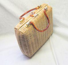 vintage basket purse