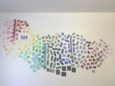 Paint samples, but I hung my running medals and bibs in the corresponding colors.