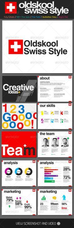 Oldskool Swiss Style PowerPoint Template