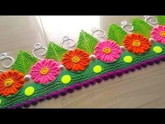 How to make easy and simple/unique border rangoli designs by Jyoti Rathod,rangoli,festival rangoli d - YouTube