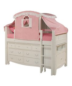 White Low-Loft Storage Bed Set by Bolton Furniture