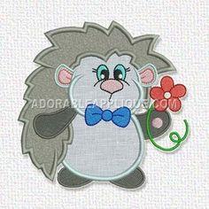 Free Embroidery Design: Hedgehog