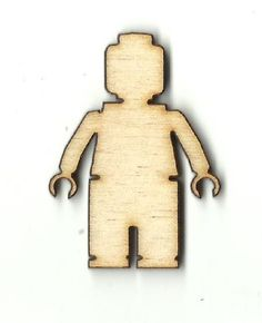 Lego Minifig Man Unfinished Laser Cut Wood Shape TOY854