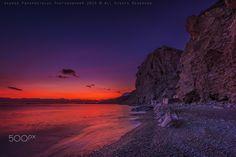 Sunset in Therma beach in Kos island Greece
