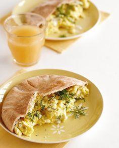 Dill Feta Scramble for breakfast!