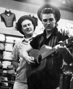 Dewey Phillips and Elvis - AT LANSKY'S Beale Street