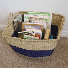 Homeschool morning basket. Simple and easy for morning time.