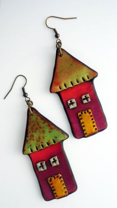 Cute polymere clay earrings