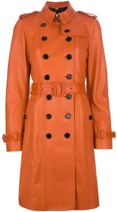 BURBERRY Lamb Skin Trench Coat - Lyst