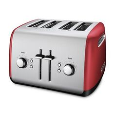 KitchenAid Toaster with Manual HighLift Lever Empire Red ** Continue @