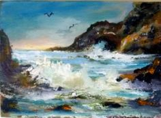 Impressionist Seascape oil painting Gail Grant California plein air art ocean