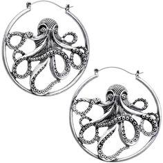 Octopus Tunnel Plug Hoop Hanger Earring Set   Body Candy Body Jewelry