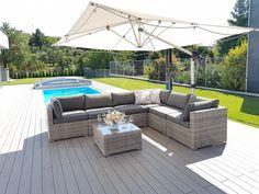 Modulová ratanová zostava SEVILLA (sivá) - vlastná zostava | Zahradný nábytok Outdoor Sectional, Sectional Sofa, Outdoor Furniture, Outdoor Decor, Home Decor, Sevilla, Modular Sofa, Decoration Home, Corner Sofa