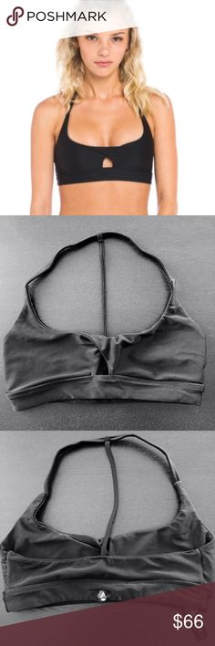 NWOT Stone Fox Sweat Vega T Bra, Onyx. Sz Small Stone Fox Sweat Vega T Bra, in Black Onyx. Sz Small (fits like an XS). Purchased this and tried on, too small so never, NWOT condition. This bra is sold out everywhere! One of a kind piece for your Stone Fox collection. Can go lower on Ⓜ️ Stone Fox Swim Intimates & Sleepwear Bras