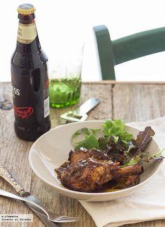 Pollo guisado en cerveza negra. Receta