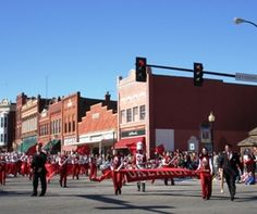 The Pride of Oklahoma marching in Guthrie. I lived just outside of town. Loved this little town