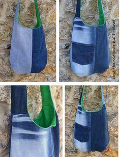 Shoulder bag handbag shoulder denim, cotton, jeans, reversible Pocket - recycling by UneHoussePourMaPomme on Etsy https://www.etsy.com/listing/537165958/shoulder-bag-handbag-shoulder-denim