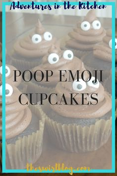 These poop emoji cupcakes are perfect for every little brother's birthday party or your next marketing social media team get together! So cute!