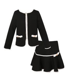 Look at this Black Jacket & Skirt - Toddler & Girls on #zulily today!
