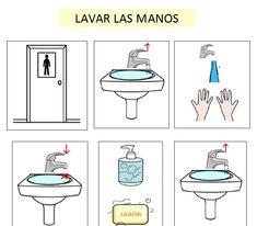 Autismus Arbeitsmaterial: Bilder: Hände waschen