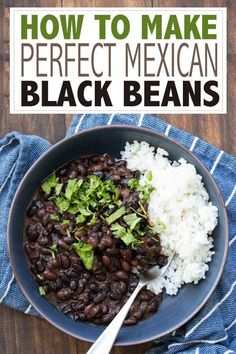 Mexican food recipes 522980575481089182 - Learn how to make black beans with this incredible Mexican dried black beans recipe! It's simple, loaded with flavor and a family favorite! Source by veggiesdontbite Black Bean Recipes, Vegan Mexican Recipes, Vegetarian Recipes, Cooking Recipes, Healthy Recipes, Black Beans Recipe Easy, Mexican Beans Recipe, Mexican Desserts, Healthy Dinners