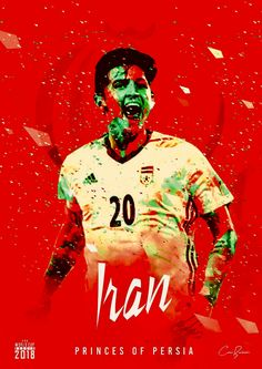 Iran : تیم ملی = Team Melli aka Princes of Persia! Iran Soccer, Iran Football, Football Team, Soccer Cup, Soccer Stars, Persian Football, Iran National Team, Iran World Cup, World Cup 2018 Teams