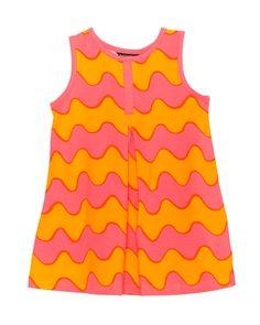 """Marimekko Girls """"Fantsu"""" Pink & Orange Striped Sundress is on Rue. Shop it now."""