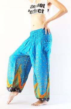 Blue Sky Harem Pants comfortable trousers gypsy by enjoyflying