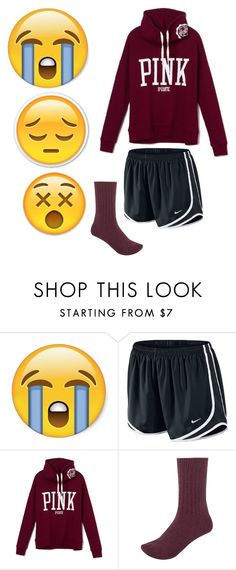 """""""Someone comment so we can talk, I need a friend rn really bad"""" by lexiii-caniff ❤ liked on Polyvore featuring NIKE, River Island, women's clothing, women, female, woman, misses and juniors"""