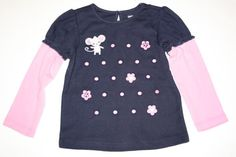 NWT Gymboree Miss Mouse Shirt 3T Free Shipping