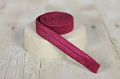 Maroon Elastic - 5/8  Wine Fold Over Elastic - Burgandy FOE on Etsy, $2.75