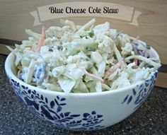 Blue Cheese Cole Slaw // Life a Little Brighter