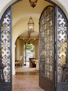 San Francisco Home wrought iron grand entryway gates Design Ideas, Pictures, Remodel and Decor