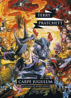 Nouvelle édition ! Carpe Jugulum de Terry Pratchett, Les Annales du Disque-monde (livre 23, 2017) ©Josh Kirby / Leraf