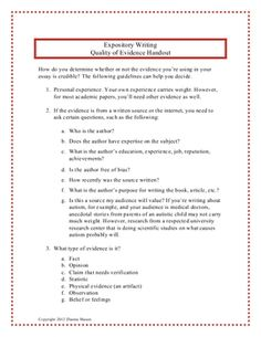 Outline for a research paper elementary students