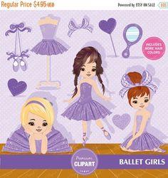 70% OFF SALE Ballerina clipart Ballerina Purple by PremiumClipart
