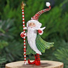 Patience Brewster Mini Santa Wizard Ornament