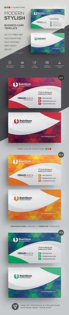 Modern #Business #Card #Template - Corporate Business Cards