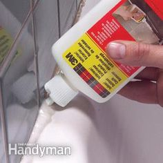 Apply a caulk remover to simplify the job of removing old caulk from joints. It loosens the caulk so you can easily dig it out.