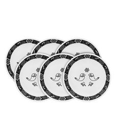 Look what I found on #zulily! Birds of a Feather Six-Piece Appetizer Plate Set #zulilyfinds