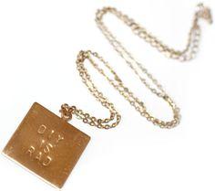 Engravable Charm DIY necklace