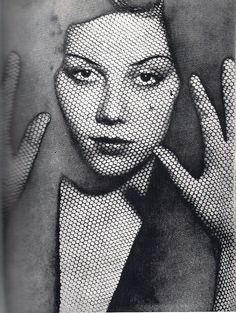 The Veil -1930 by Man Ray, this would be awesome to mimic today and put side by side!