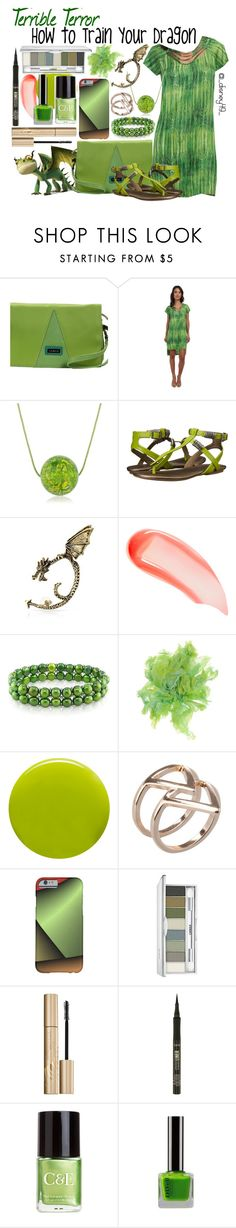 """HTTYD: Terrible Terror"" by disney49 ❤ liked on Polyvore featuring Hadaki, BCBGMAXAZRIA, Michael Antonio, Bling Jewelry, NARS Cosmetics, Ice, Malababa, Lauren B. Beauty, Clinique and Stila"